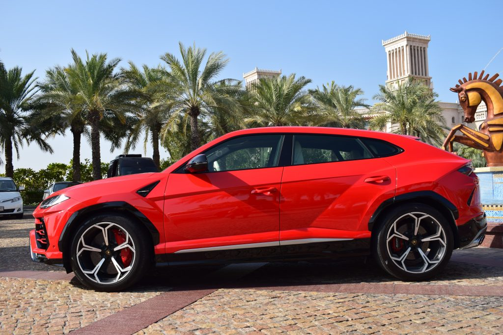 lamborghini urus red color in dubai