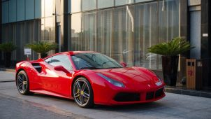 ferrari 488 gtb red color