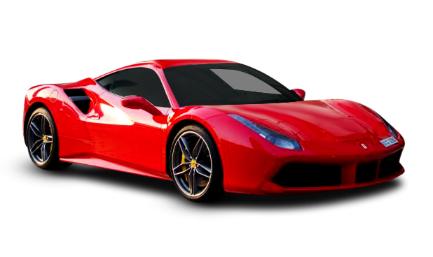 Ferrari 488 GTB Red Color in UAE Dubai for Rent
