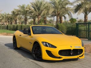 maseratti grancabrio yellow color