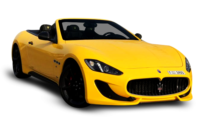 Maserati Grancabrio Yellow - For Rent in Dubai UAE