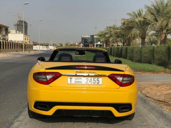 maseratti grancabrio yellow color