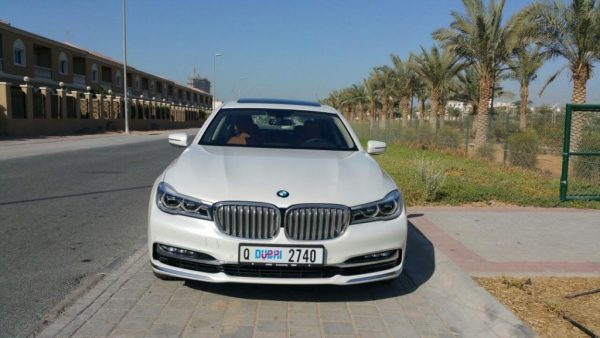 rent BMW 740 LI white dubai