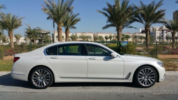 rent BMW 740 LI white in dubai
