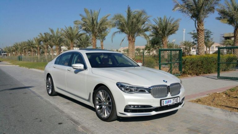 BMW 740 LI White - For Rent Dubai UAE