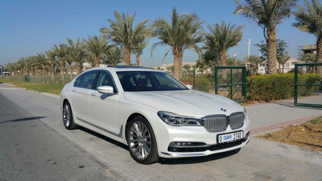 BMW 740 LI White - For Rent Dubai UAE