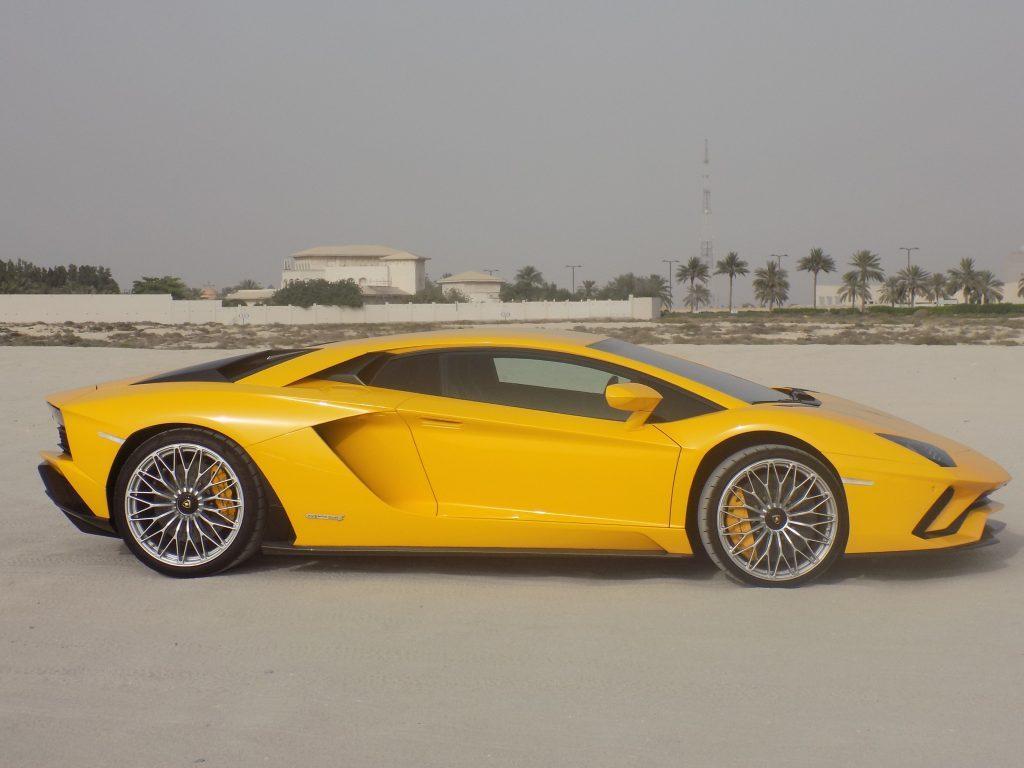 lamborghini aventador s in desert in UAE