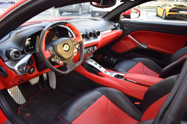 ferrari f12 red color interior in dubai
