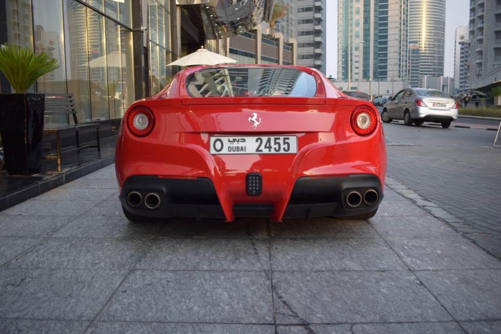 ferrari f12 red color in dubai