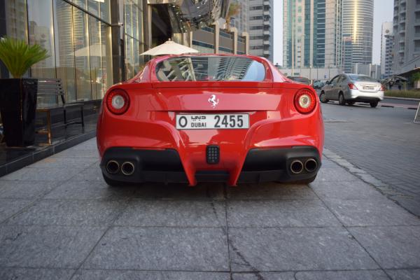 ferrari f12 red color in dubai