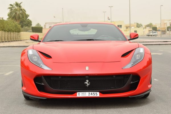 ferrari 812 red color in dubai