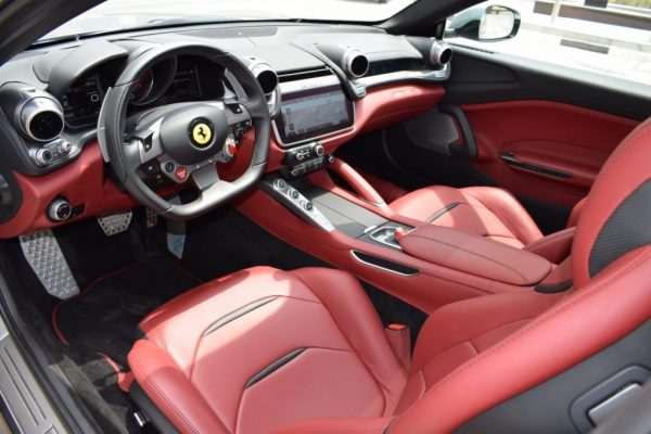 ferrari gtc4 lusso red color interior in dubai