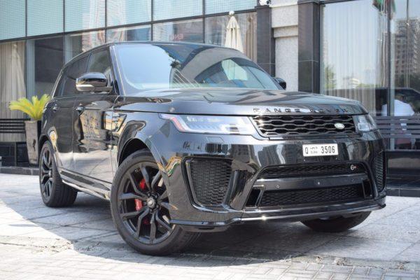 range rover svr black for rentrange rover svr black rental dubai