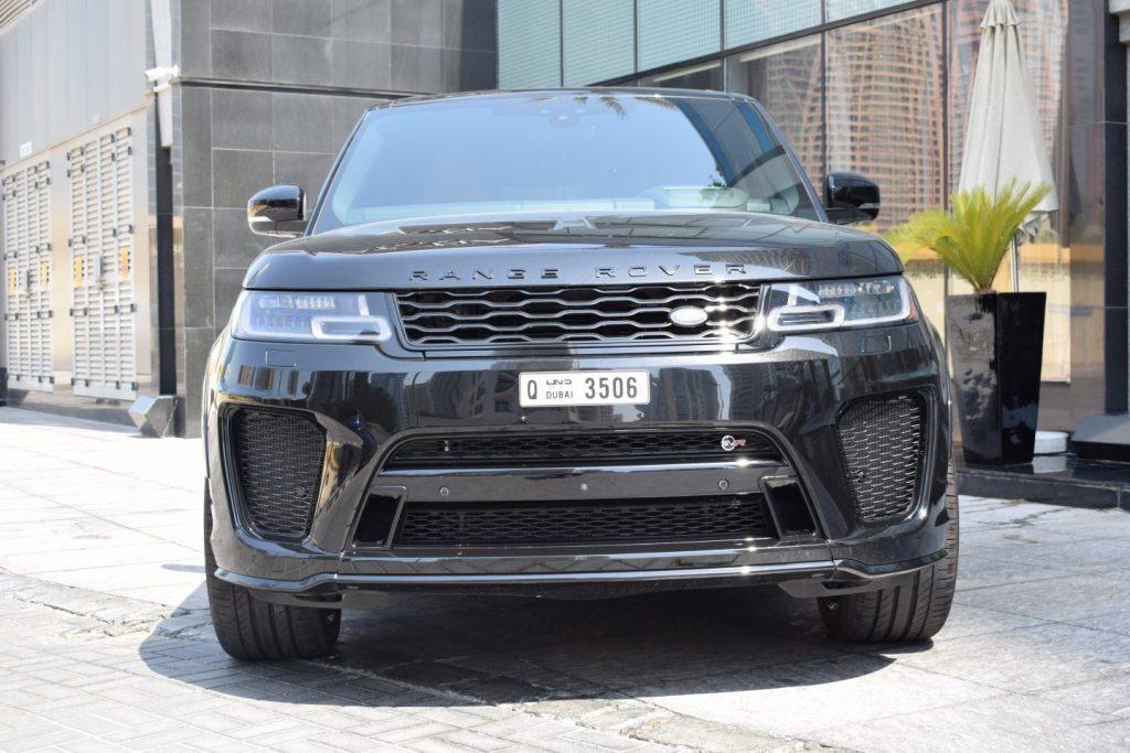 range rover svr black for rent