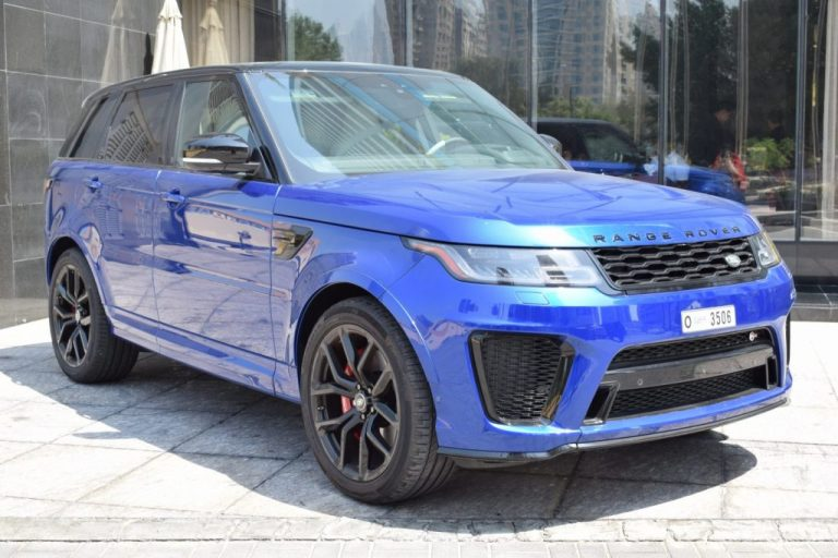 Range Rover SVR Blue for rent Dubai UAE