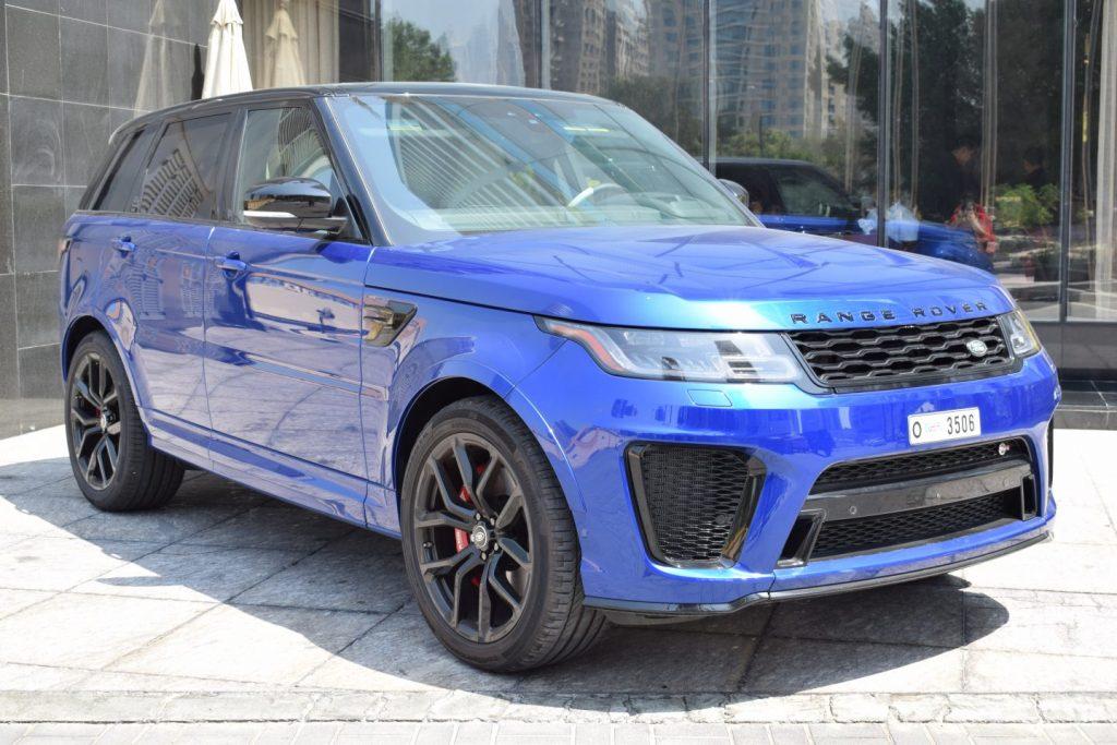 Range Rover SVR Blue for rent Dubai UAE