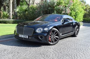 bentley continental gt 2019 black in dubai