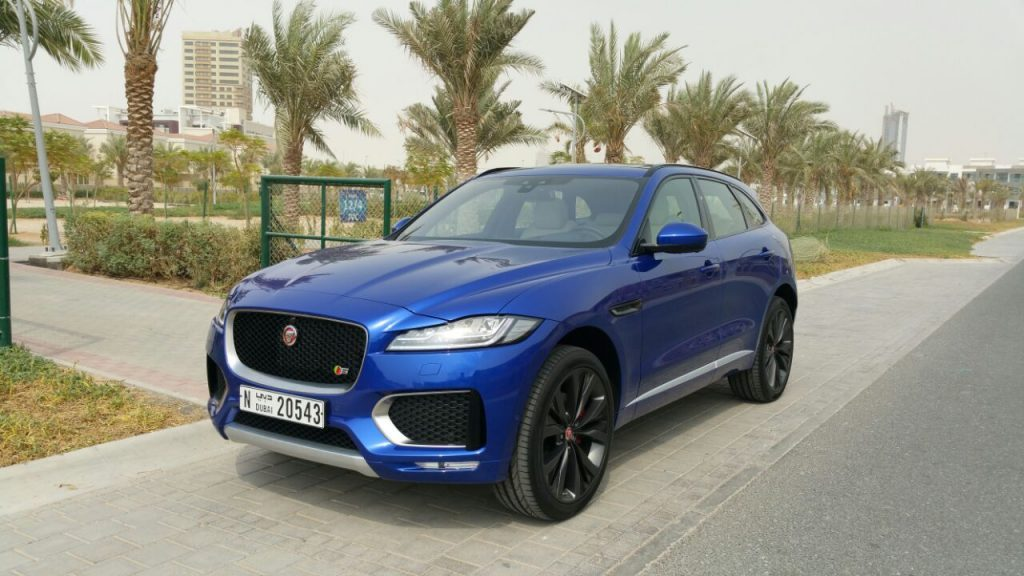 Jaguar F Pace Blue Dubai UAE for Rent