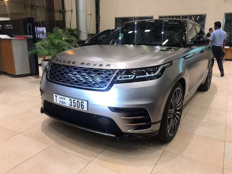 Range Rover Velar Silver for Rent in Dubai UAE