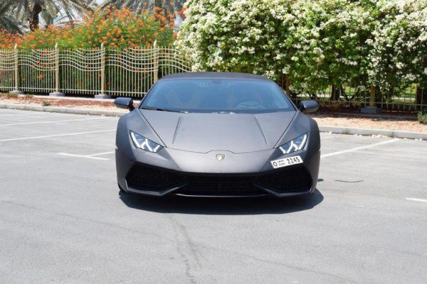 Lamborghini Huracan Spider - Black Rental Dubai