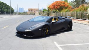 Rent Lamborghini Huracan Spider - Black in Dubai