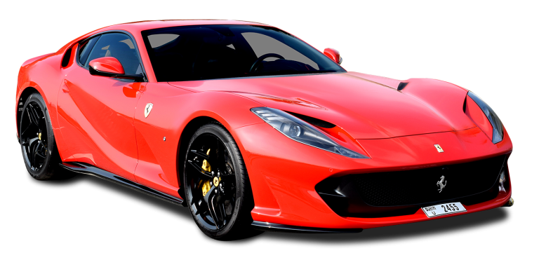 Ferrari 812 Superfast Red for rent in UAE Dubai