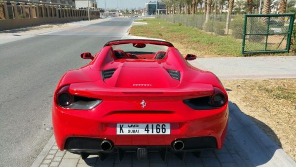 ferrari 488 spider in dubai