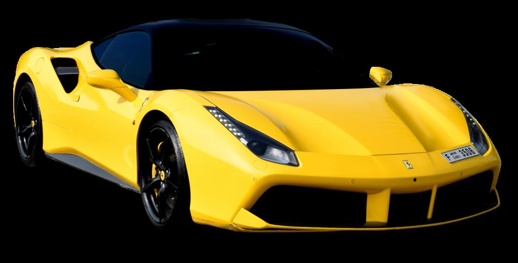Ferrari 488 GTB Yellow for Rent in Dubai UAE