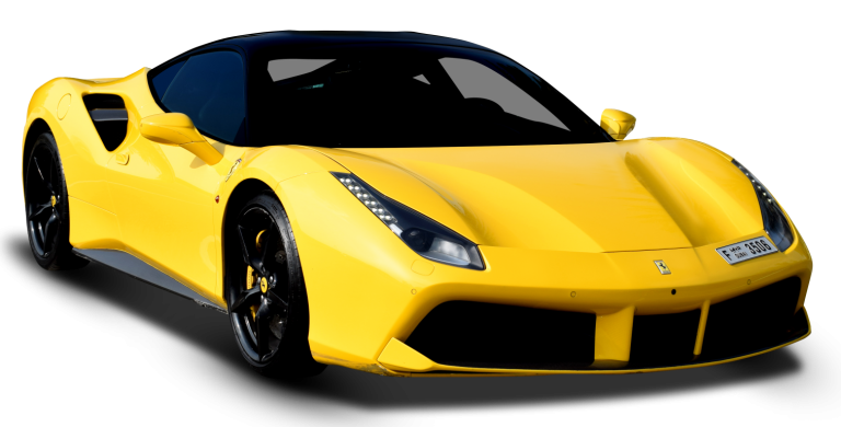 Ferrari 488 GTB Yellow for Rent in Dubai UAE