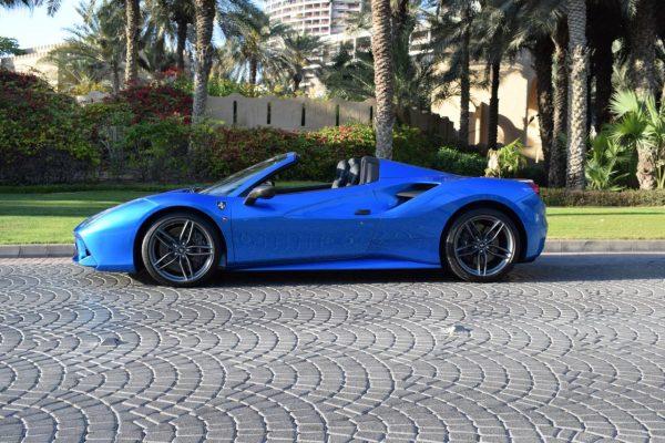 Ferrari 488 Spider Rental in Dubai