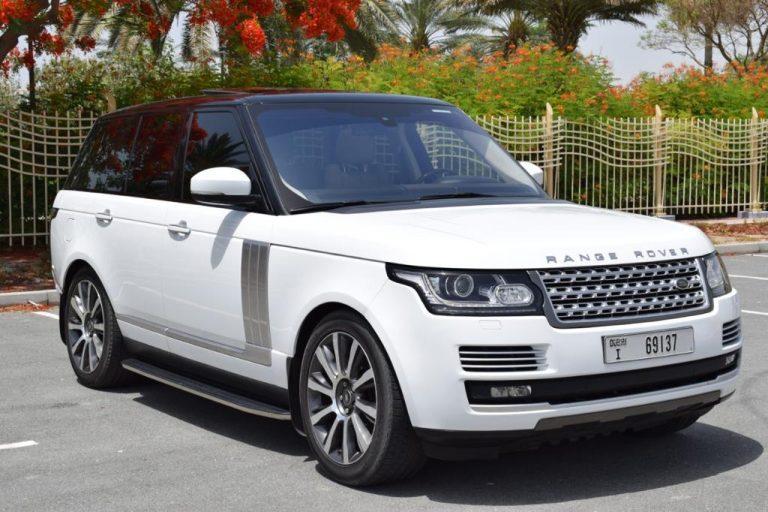 Range Rover Vogue White - For Rent in Dubai UAE