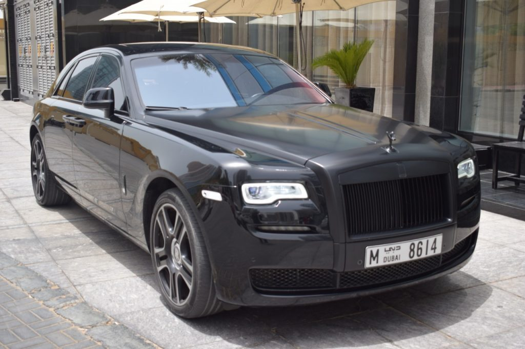Rent Rolls Royce Ghost Black Dubai UAE