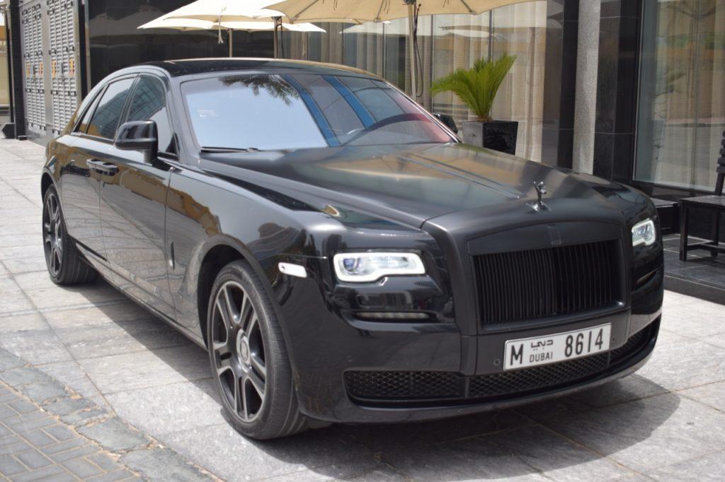 Rent Rolls Royce Ghost Black Dubai UAE