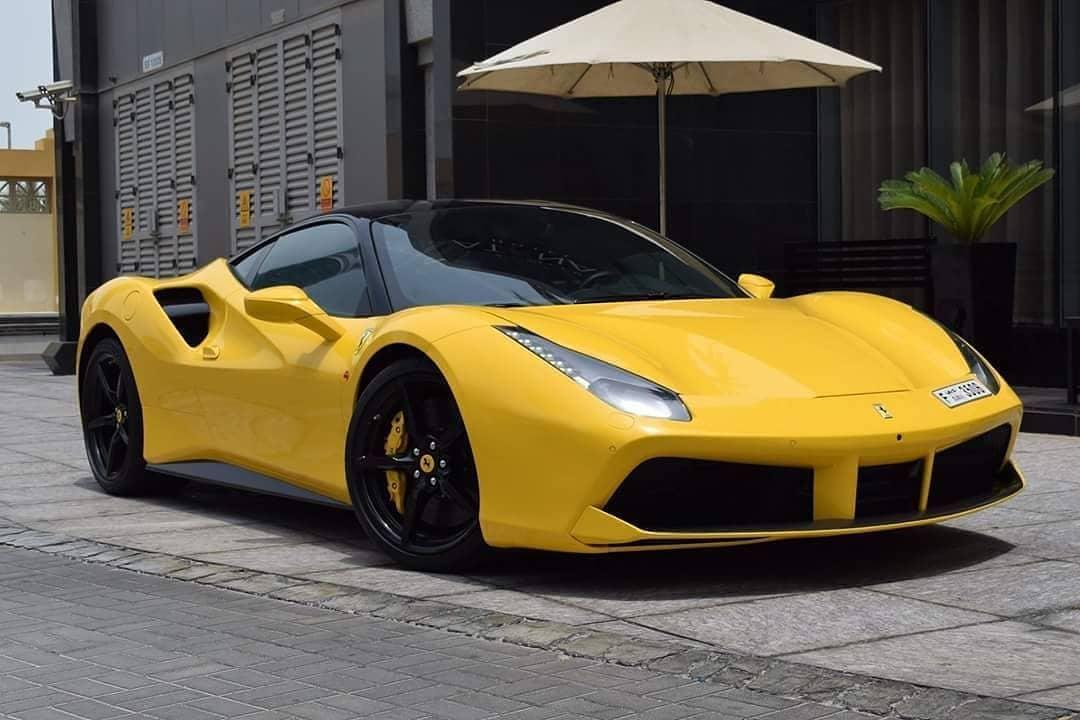 Rent Yellow Ferrari 488 Gtb In Dubai Up To 80 Off Check Prices