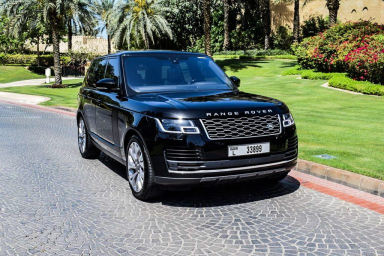 Range Rover Supercharged Black - For Rent Dubai