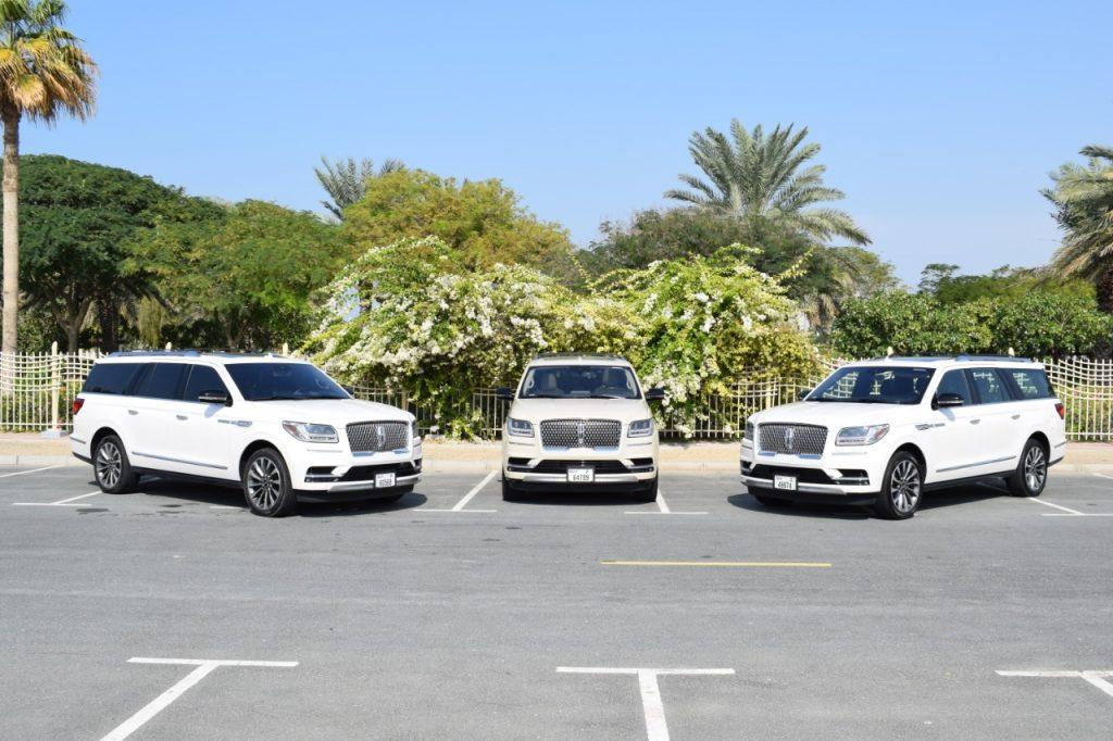 Lincoln Navigator White for Rent in Dubai UAE