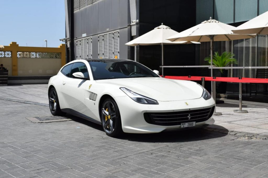 Ferrari GTC4 Lusso White - For Rent in Dubai UAE