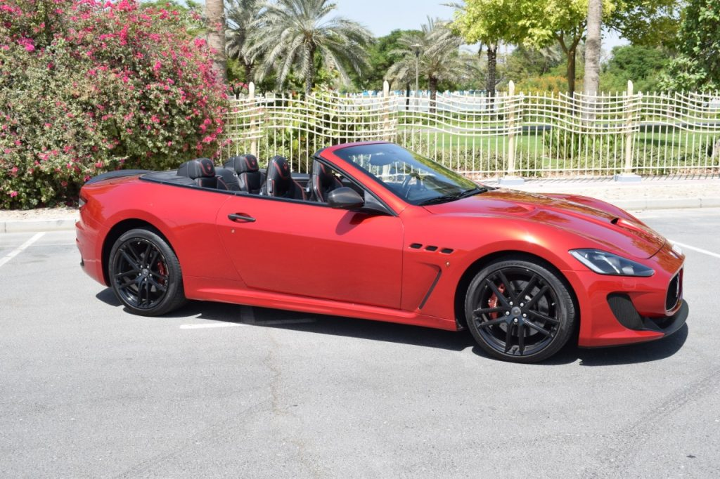 Maserati Grancabrio Red - For Rent in Dubai UAE