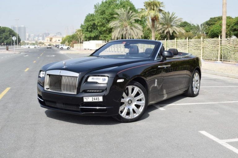 Rolls Royce Dawn - Black - For Rent in Dubai UAE