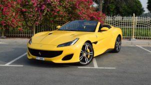 Rent Ferrari Portofino - Yellow Dubai