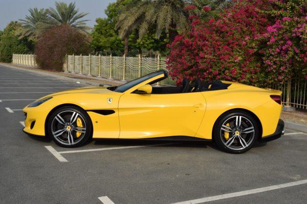 Rent Ferrari Portofino - Yellow in Dubai
