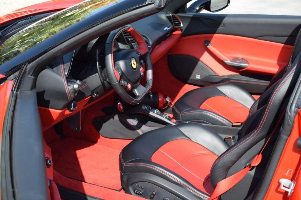 Ferrari 488 Spider - Red Rental Car in Dubai