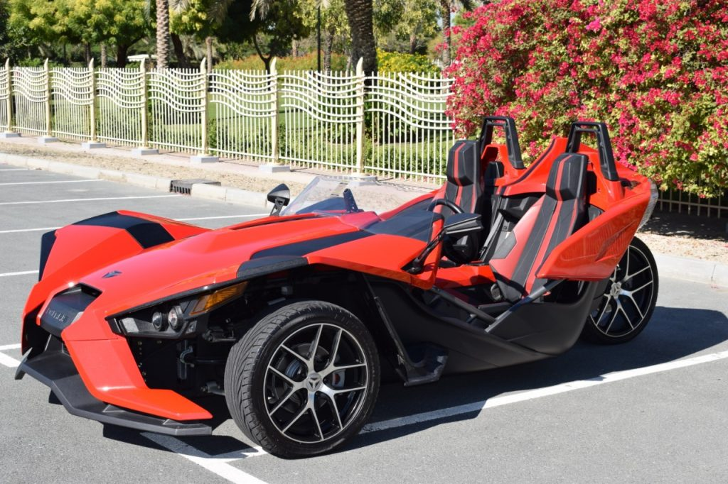 Polaris Slingshot Red - Rental Car Dubai UAE