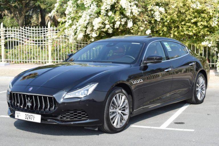Maserati Quattroporte 2020 Black for Rent In Dubai UAE
