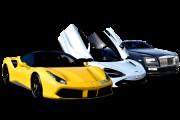 Ferrari Yellow - Mclaren White - Roll Royce Balck For Rent in Dubai UAE