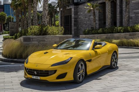 Ferrari Portofino Yellow - For Rent in Dubai UAE