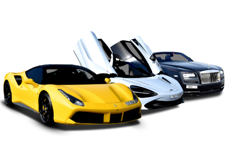 Porche Yellow - McLaren White - Roll Royce Black