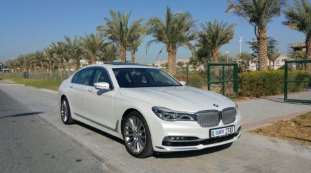BMW 740 LI white in dubai